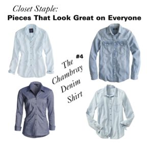 The Chambray Denim Blouse