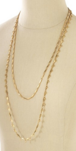 Stella & Dot Gold Zuni Layering Necklace